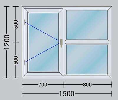طراحی در و پنجره دوجداره با توجه به ابعاد شما
